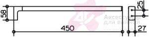 Полотенцедержатель Keuco Moll 12720.010000 одинарный 450 мм хром