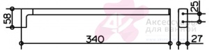Полотенцедержатель Keuco Moll 12722.010000 одинарный 340 мм хром