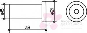 Крючок Keuco Plan 14916.010000 одинарный хром