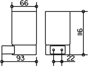 Стакан Keuco Plan  14950.019000 на держателе подвесной хром / хрусталь