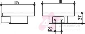 Мыльница Keuco Plan 14955.019000 настенная хром / хрусталь