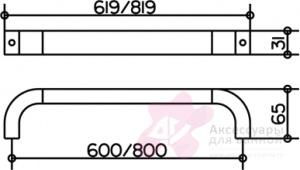 Полотенцедержатель Keuco Edition 300 30001.010600 одинарный 600 мм хром