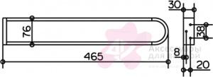 Полотенцедержатель Keuco Edition 300 30018.010000 двойной 450 мм хром