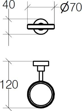 Держатель Lineabeta Baketo 52011.29 для аксессуаров подвесной хром