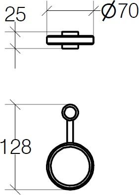 Держатель Lineabeta Baketo 52241.29 для аксессуаров с креплением на штангу хром