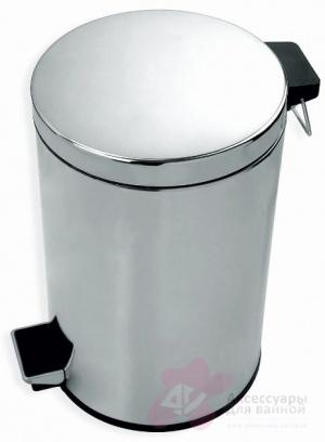 Ведро Linisi 71076 для мусора напольное (8 литров) хром