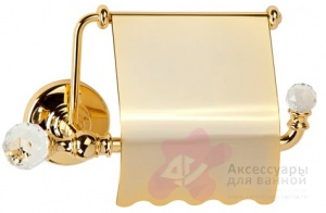 Бумагодержатель Migliore Amerida ML.AMR-60.406.CR двойной хром/Swarovski