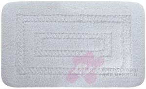 Коврик Migliore Complementi ML.COM-50.100.BI.10 для ванны (узор 1) 60 х 100 см цвет белый