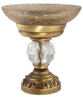 Мыльница Migliore Cristalia ML.CRS-60.211.DO настольная золото/Swarovski