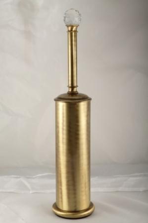 Ершик Migliore Cristalia ML.CRS-60.213.DO для туалета напольный золото/Swarovski