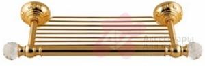 Полотенцедержатель Migliore Cristalia ML.CRS-60.215.DO полка золото/Swarovski