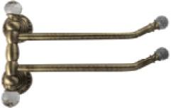 Полотенцедержатель Migliore Cristalia ML.CRS-60.224.DO двойной поворотный золото/Swarovski