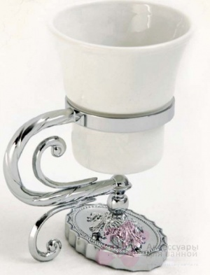 Стакан Migliore Edera ML.EDR-60.302.CR настенный цвет хром / керамика