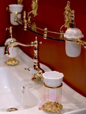 Дозатор Migliore Elisabetta ML.ELB-60.107.CR жидкого мыла настенный хром / керамика