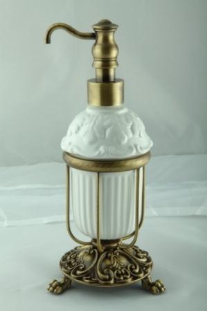 Дозатор Migliore Elisabetta ML.ELB-60.117.CR жидкого мыла настольный хром / керамика
