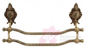 Полотенцедержатель Migliore (Миглиоре Elisabetta ML.ELB-60.123.BR двойной длина 60 см бронза