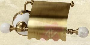 Бумагодержатель Migliore Provance ML.PRO-60.506.CR закрытый хром / керамика