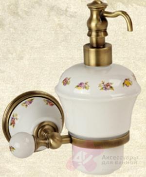 Дозатор для мыла Migliore Provance ML.PRO-60.507.CR настенный цвет хром / керамика