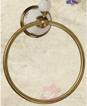 Полотенцедержатель Migliore Provance ML.PRO-60.508.CR кольцо хром / керамика
