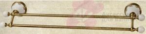 Полотенцедержатель Migliore Provance ML.PRO-60.523.CR двойной длина 60 см хром / керамика