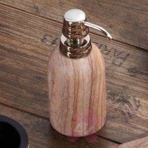 Дозатор Nicol Sonora 2061932 настольный для жидкого мыла песчаник / хром