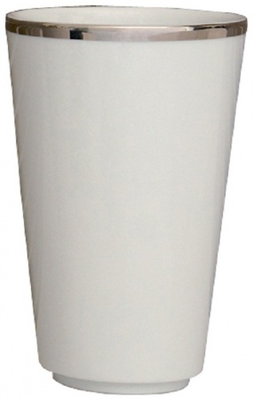 Стакан Nicol Sofia 2142092 настольный фарфор белый / ободок платина