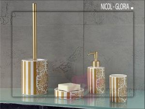 Стакан Nicol Gloria 2152070 настольный керамика жасмин декор золото