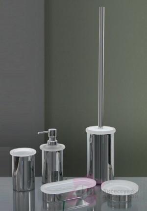 Дозатор Nicol Stella 2161900 настольный для жидкого мыла хром / стекло матовое