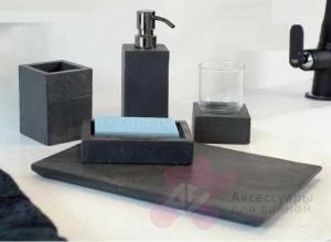 Дозатор Nicol Petra 2181958 настольный для жидкого мыла натуральный камень / хром