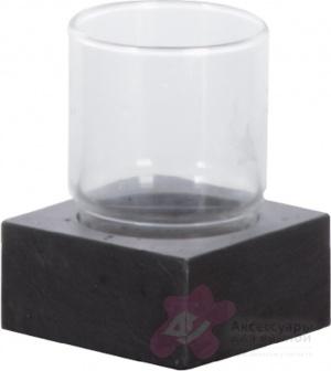 Стакан Nicol Petra 2182158 настольный натуральный камень (сланец / стекло прозрачное