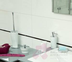 Дозатор Nicol Momentum 2201926 настольный для жидкого мыла фарфор белый / хром