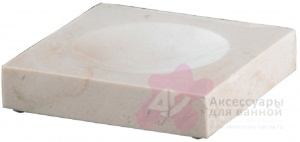 Мыльница Nicol Victoria 2311812 настольная натуральный камень travertin