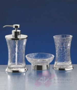 Дозатор Nicol Split 2381900 настольный для жидкого мыла стекло кракелюр / хром