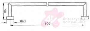Полотенцедержатель Niсolazzi Minimale 1486M CR одинарный длина 60 см хром