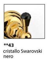 Мыльница Niсolazzi Classica lusso 1487B GO43 настенная золото /Swarovski черный / керамика черная