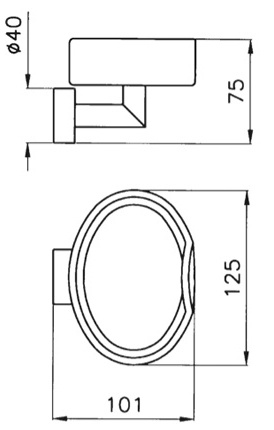 Мыльница Niсolazzi Minimale 1487M CR настенная хром / керамика белая
