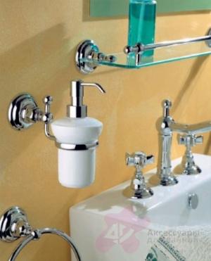 Дозатор для жидкого мыла Niсolazzi Classica lusso 1489 CR настенный хром / керамика белая