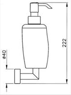 Дозатор для жидкого мыла Niсolazzi Minimale 1489M CR настенный хром / керамика белая