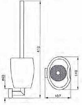 Ерш Niсolazzi Minimale 1490M CR для туалета подвесной хром /керамика белая