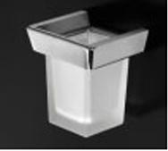 Стакан Open Kristallux Kone 0KN 12 013b настенный хром / стекло матовое