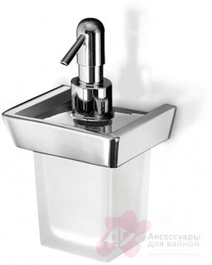 Дозатор мыла Open Kristallux Kone 0KN457 013b настенный хром /стекло матовое