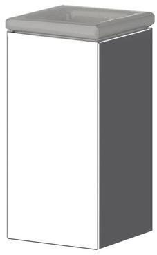Стакан Performa Per12M-01 22803 CR настольный хром/керамика белая