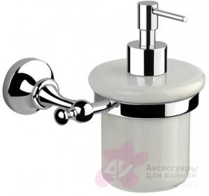 Дозатор жидкого мыла Performa Per4M-24 25804 CR настенный хром/керамика белая