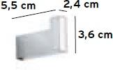 Крючок Pomdor Urban 49.30.01.002 одинарный хром