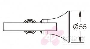 Ершик Rose RG12 RG1200 настенный хром/стекло