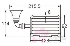 Мыльница-решетка Rose RG12 RG1204 настенная хром