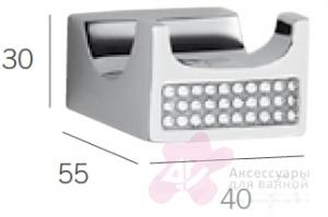 Крючок Sanibano Diamond H9000-09d двойной хром / Swarovski