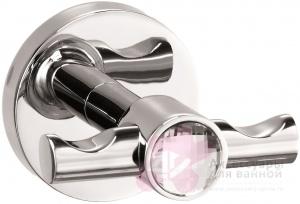 Крючок Sanibano Sahara H9700-09d Crystal двойной хром / Swarovski