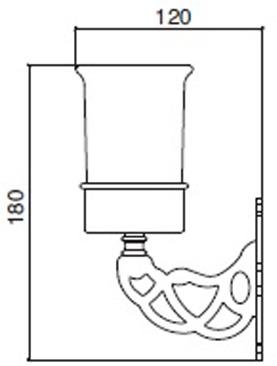 Стакан Sbordoni Classic CL101OL настенный латунь