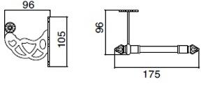 Бумагодержатель Sbordoni Classic CL102OL открытый латунь